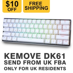 $10 off & Free Shippping by Amazon for KEMOVE SNOWFOX DK61 Only for UK Residents